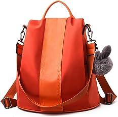 Barwell Damen Rucksack Wasserdichte Nylon Schultaschen Anti-Diebstahl Tagesrucksack Schultertaschen