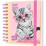 Grupo Erik Diario Scuola 2021 2022 Studio Pets Cats, agenda scolastica 2021 2022 giornaliera con 11 mesi, 16x14 cm, Diario el