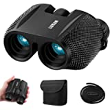 High Powered 10x25 Binoculars with Low Light Night Vision, SGODDE Compact Folding Binoculars Fit for Adults and Kids…