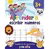 Aprender a escribir números: Aprender a escribir los numeros para niños - Libro infantiles para la escuela primaria - Juego e