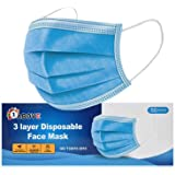 1Above 50pk- Disposable 3-Layer Protective Face Masks, High Filterability, Sutaible For Sensitive Skin