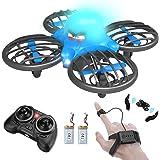 FLYHAL F111, Infrarrojo Sensor RC Drone para Niños y Principiantes, Control Remoto por Reloj Inteligente y la Mano Sensor de