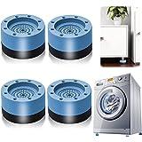 Patins Anti Vibration, 4 Pièces Pieds en Caoutchouc pour Machine à Laver Coussinets Pied de Machine à Laver Tampon Anti-vibra