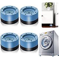 Patins Anti Vibration, 4 Pièces Pieds en Caoutchouc pour Machine à Laver Coussinets Pied de Machine à Laver Tampon Anti…