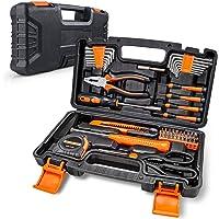 Werkzeugkoffer 56 teiliges Werkzeug Sets für tägliche Reparatur und Heimwerker, Heimwerker-Werkzeugkasten inklusive…