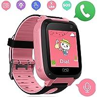 Kids Smartwatch - orologi intelligenti per bambini e bambine con LBS Tracker SOS anti-perso allarme SIM Card slot camera…