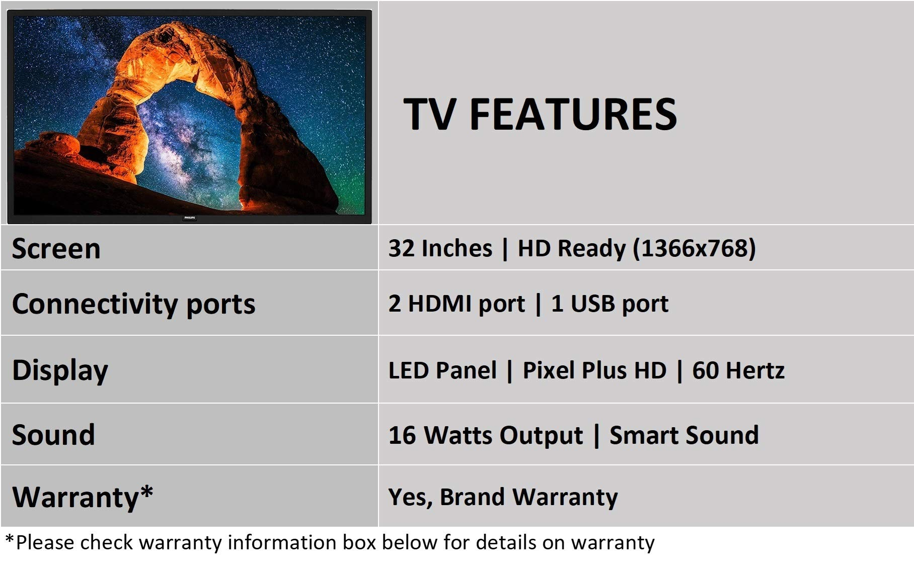 Philips 80 cm (32 inches) 4200 Series HD Ready LED TV 32PHT4233S/94