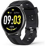 AGPTEK Smartwatch, Reloj Inteligente 1.3 Pulgadas Táctil Completa IP68, Pulsera de Actividad Deportivo Pulsómetro Monitor de