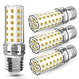 4 Pezzi 12W LED E27 Lampadine LED di mais, 100W equivalenti a incandescenza, Luce Bianca Calda 3000K 1450LM, CRI>80+, non dim