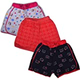 Chocoberry Printed Girls Shorts Pack of 3