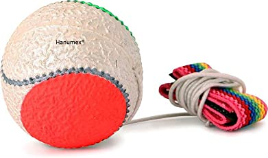 Hanumex Bouncing Return Ball for Outdoor Playing Cricket Practice (White and Orange) - Pack of 2