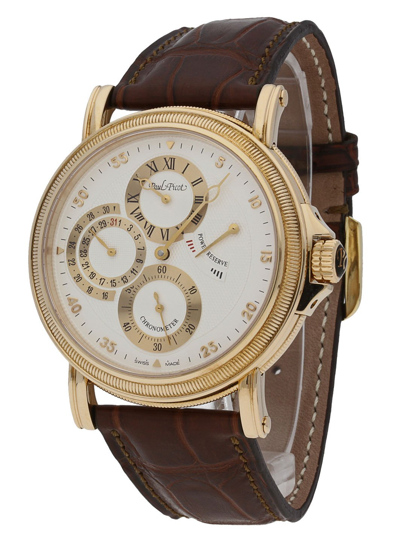 Paul Picot Herren-Armbanduhr Atelier Regulateur Datum Gangreserve-Anzeige Analog Automatik Chronometer P3040.RG.7204