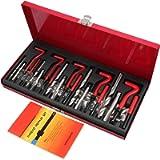 Justech 131 Pezzi Helicoil Kit di Riparazione Filettatura Professionale Set di Utensili Manuali Ripristino Filetti…