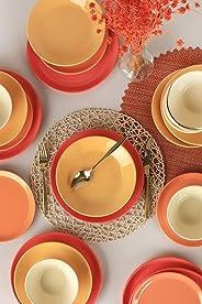 Keramika Hitit Degrade Turuncu Yemek Takımı 24 Parça 6 Kişilik