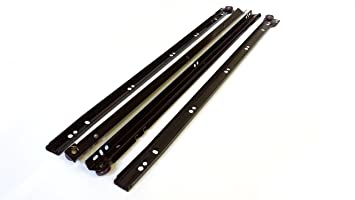 metal roller bottom fix drawer runners 250mm600mm brown 1 pair 350mm - How To Fix A Drawer