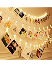 AtneP Plastic Photo Clip String Lights for Home Decoration, 4Meter(Warm White) - 20 LEDs