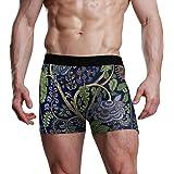 REFFW Boxer Elasticizzato Trunk Flower Indian Boho Tree e Paisley Bulge Pouch Slip da Uomo