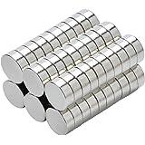 Yizhet 50 stuks magneten magneet huishoudelijke magneten 8x3 mm mini magneet voor magneetbord, whiteboard, bord, prikbord, ko