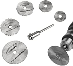 Excel Impex HSS Circular Saw Blade Set For Metal & Dremel Rotary Tools (6 Pieces) 22mm - 40 mm