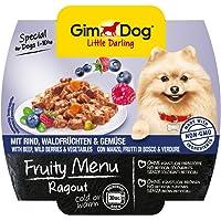gimdog Fodera/Little Darling Fruity Menu ragout con Manzo, Foresta/Frutta e verdura per cani fino a 10kg/Naturale mangimi per cani senza aromi artificiali & coloranti/cani ASS Imbottitura 800G (8X 100G)