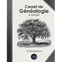 Carnet de Généalogie à remplir: v1-6 Livre complet pour toutes vos recherches   Arbre Généalogique 10 générations   187…