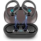 Auriculares Inalambricos Deportivos, Hadisala Auriculares Bluetooth 5.1 Sport, Cascos Inalambricos Deporte con Ganchos IPX7 I