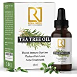 ROYAL NEEDS ; YOUR HIGHNESS Undiluted Therapeutic Grade Tea Tree Essential Oil for Skin, Hair and Acne Care (15ml)