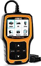 Ancel AD410 OBD II Automotive Code Reader Fehlerausleser Zum Fahrzeug Prüfen Motor Licht Diagnosegerät Auto OBD2 Scanner mit I/M Bereitschaft (Schwarz-Orange)