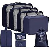 OrgaWise Packing Cubes 8 Borsa Essentials in Poliestere da viaggio Custodia in poliestere impermeabile Contenitori da viaggio