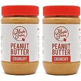 MapleFarm - Mantequilla de cacahuete 100% pura - CRUNCHY - 1 Kg (2x500g) - 100% Pure peanut butter - Crema proteica. Crema pr