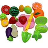 Harry & James™ Realistic Sliceable Cutting Play Kitchen Toy with Fruits, Vegetables, Knife, Plate and Cutting-Board for…