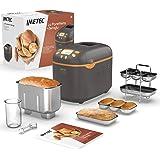 Imetec La Paneria + Zeroglu, broodmachine, sandwichmaker, zoete gerechten met natuurlijk meel en zonder glutine, 20 programma