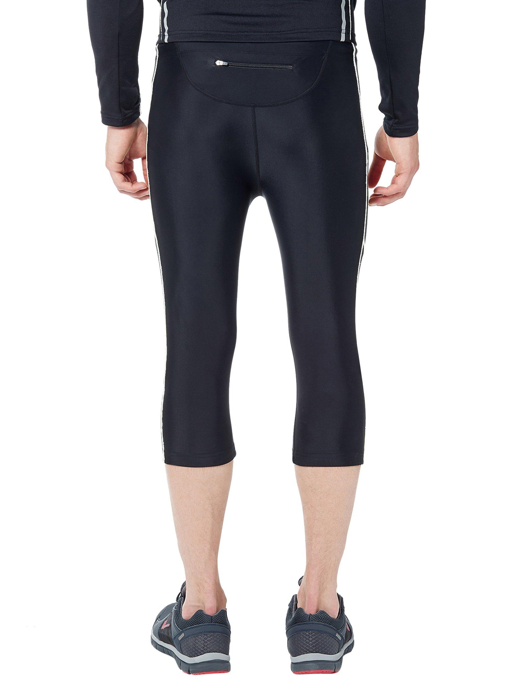 1238597fbe3d9b Ultrasport Men's Running Trousers – 3/4 length fitness trousers for ...