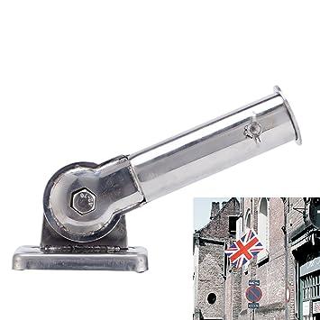 holeco 1pcs flag pole holder wall mount adjustable stainless flagpole - Flag Pole Holder