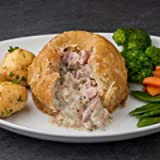 Bacon and Onion Individual Suet Meat Pudding 4 x 420g on Average
