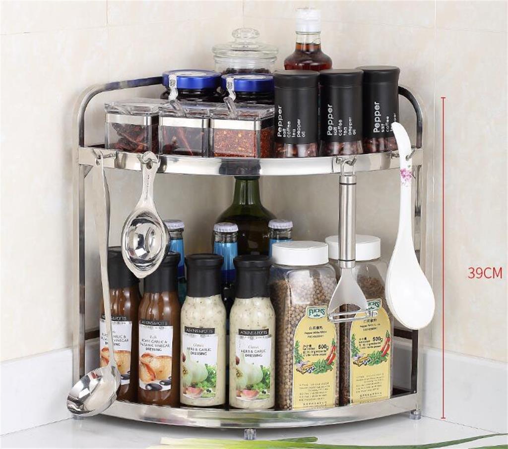 MGMDIAN Ripiano angolare per Cucina, stendibiancheria in Acciaio Inox,  ripiano portaoggetti, mensole da Cucina Stoviglie multifunzionali (Colore :  1#)