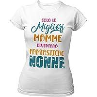 STAMPATEK Maglietta Nonna Mamma Tshirt Festa dei Nonni Maglia Idea Regalo Divertente T-Shirt Donna con Scritta Solo Le…