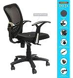 SAVYA Home® APEX Chairs Delta MB Chair Umbrella Base Office Chair (Standard, Black)