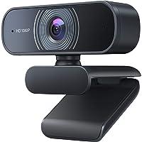 Crosstour Webcam 1080P mit Mikrofon, PC Laptop Desktop USB 2.0 Full HD Webkamera für Videoanrufe, Studieren, Konferenzen…
