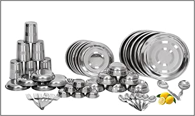 Royal Sapphire Stainless Steel Dinner Set 50 Pcs Good Quality & Perfect Size