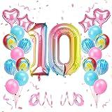 KATELUO 10 Compleanno Decorazioni Palloncino, Palloncini Compleanno 10 Anni Bimbo, Decorazioni Compleanno 10 Anni Bambina, Pa