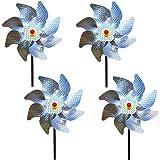 Wenxiaw Effaroucheur Oiseaux Decoration Jardin Pic Anti Pigeon Dissuasion Anti-Oiseaux réfléchissant pour Moulin à Vent Réflé