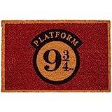 Felpudo Harry Potter Plataforma 9 3/4 - Felpudo entrada casa antideslizante 40 x 60 cm - Alfombra entrada casa exterior, Fabr