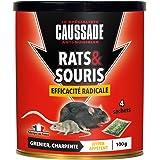 Caussade CARSC100 Rats & Sourics Efficacité Radicale - 4 Sachets Céréales - Hyper Appétent | Grenier et Charpente