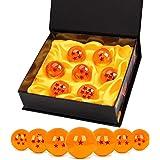 TATAFUN Bolas del Dragón, 7 PCS Dragon Ball Dragonball 1 a 7 Estrellas con Caja de Regalo, Bola de Cristal Transparente,decor