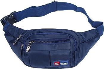 Toudorp Wasserdicht Gürteltasche / Bauchtasche mit 4 Einzeltaschen für Damen, Herren und Kinder, für Outdoor Reise und Laufen