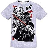 Lego Star Wars - Camiseta de manga corta para niño (niños de 4 a 10 años), color gris