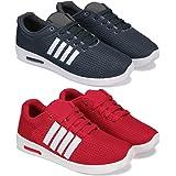 Bersache Men's Running Shoes (Set of 2 Pairs)