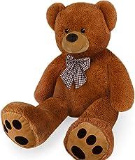 Deuba Kuschel Teddy XL 100cm in Braun - Kuscheltier Stofftier Plüschbär Teddy