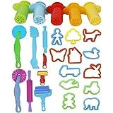 Ultnice 20-delad Play Doh-kit, smart Play degverktyg med 5 x extruderingsverktyg (blandade färger)